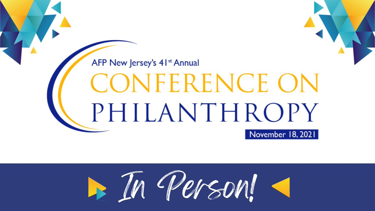 Excited for the upcoming @AFPNJChapter Annual Conference on #Philanthropy! A great event for anyone in #NewJersey #fundraising and #nonprofits. Advance registration open til 10/15, so sign up today.   #MondayMotivation
