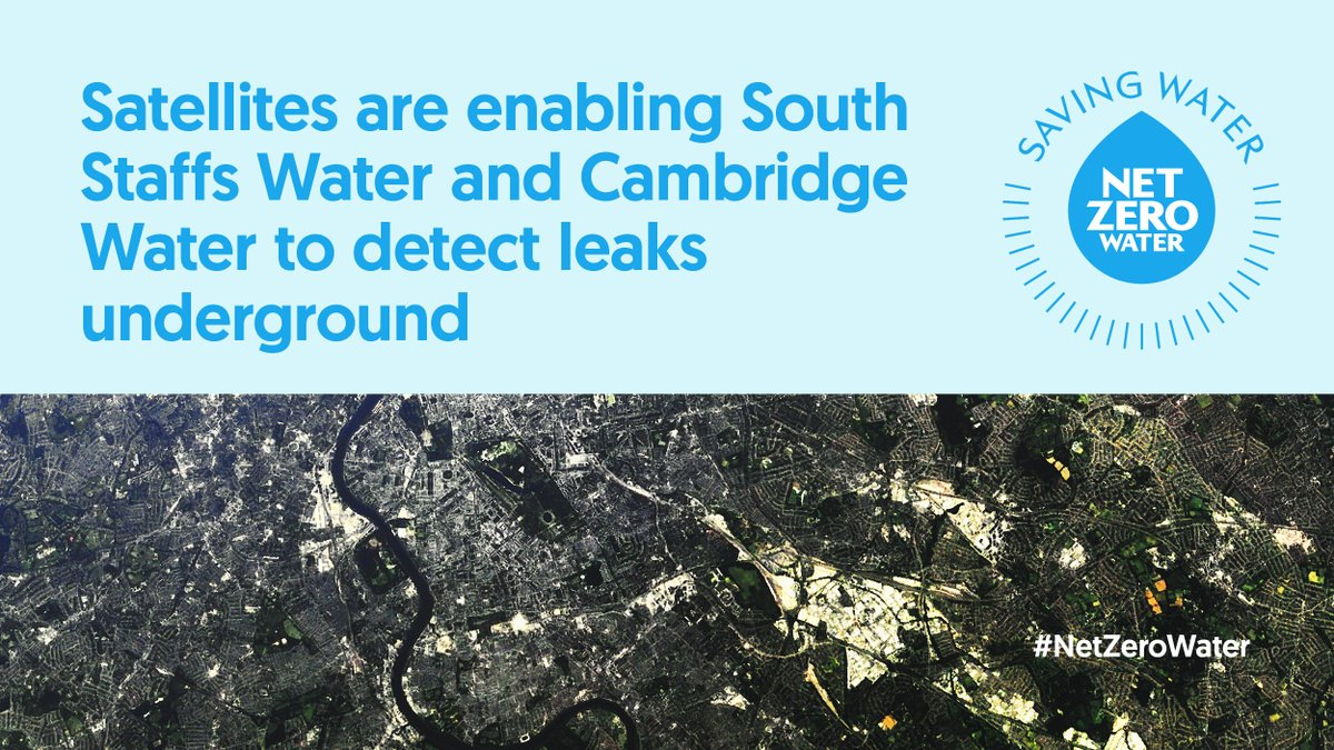 Radar sensors on satellites are enabling @SthStaffsWater and @Cambswater to detect leaks underground. It's one of the ways water companies are saving water to achieve #NetZero carbon emissions. Find out more: bit.ly/3A8bkiX #NetZeroWater