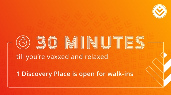 Have an extra 30 minutes? 1 Discovery Place, Sandton is open for walk-in vaccinations. Pop in for your jab 💉 Average waiting time is from temperature screening to getting vaccinated. #IGotMyVaccine https://t.co/oWmMlQQn5h