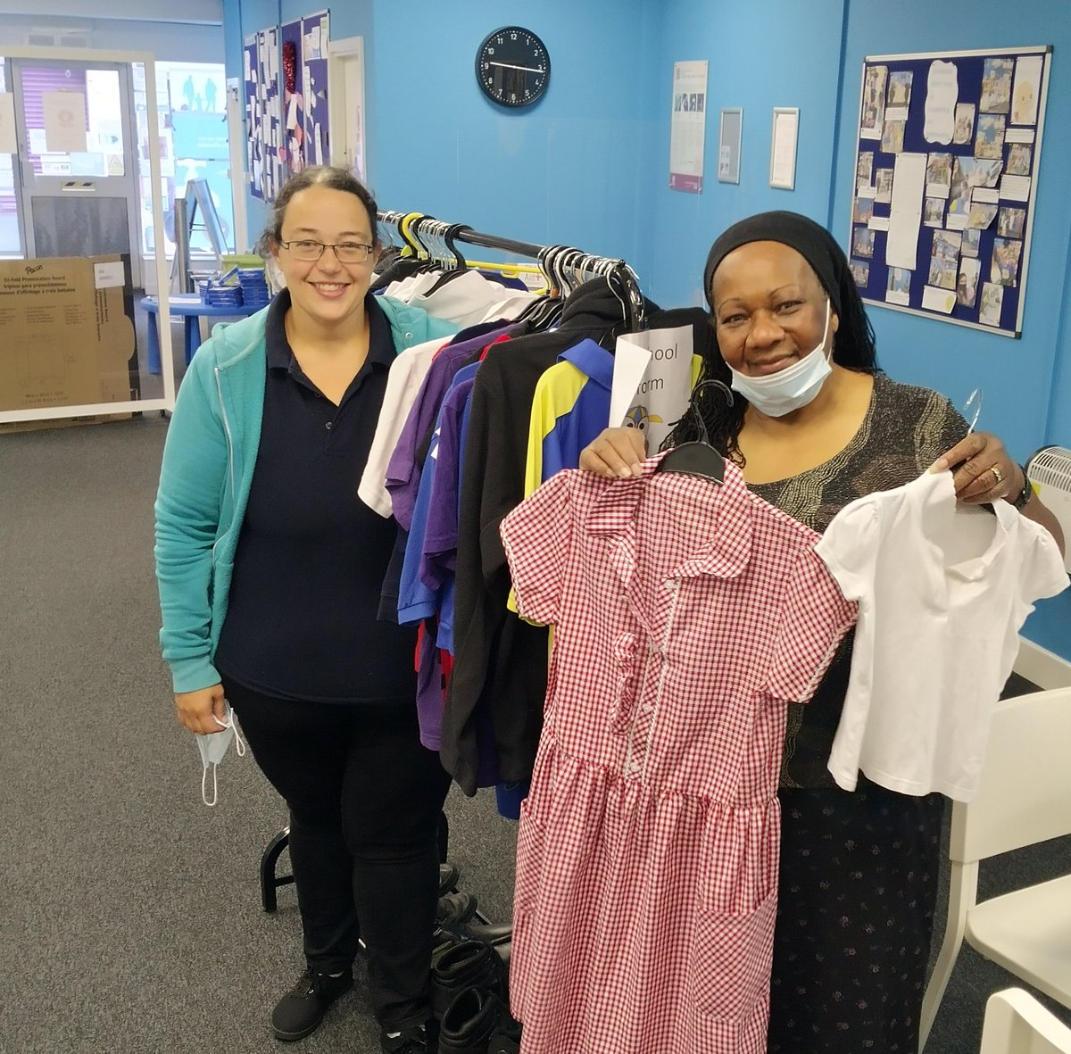 As part of our school uniform swap, we reached out to local organisations, including Millie's Foundation, to offer our support. Millie stopped by our community hub today to collect some clothing, which will be used by families that the charity supports. #PassItForward