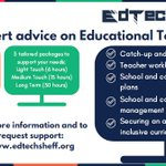 Image for the Tweet beginning: Remember you local Edtech demonstrator