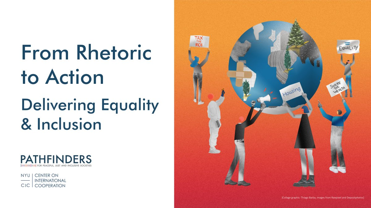 📢 We are pleased to share the flagship report of the Pathfinders' Grand Challenge on #Inequality and #Exclusion! The culmination of 3 years of research on the state of inequality around the world and proven solutions to shape an equal world. Explore: sdg16.plus/delivering-equ…'