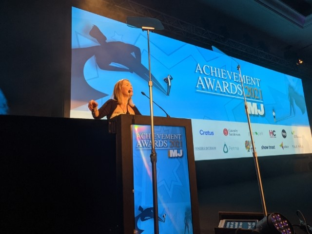 @HeatheratTheMJ opens up the awards. Very excited to see the winners and celebrate with them all! #MJAwards