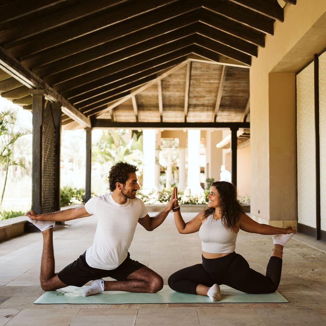 Share your fitness journey with the important people in your life. #MoveWell 📷 nadaelghoneimy omarshibiny peternabilphotography on IG 📍 The Westin Cairo Golf Resort & Spa
