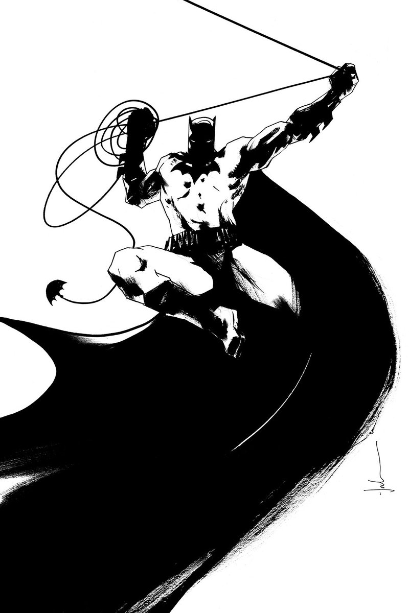 My variant cover for BATMAN #118 - we're keeping them just Black/White, and printing on foil🔥
