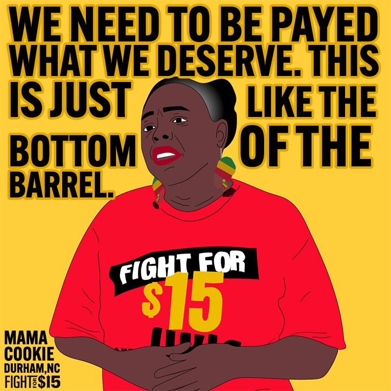 We know what we deserve as essential workers and will not settle for pennies. #FightFor15 #UnionsForAll