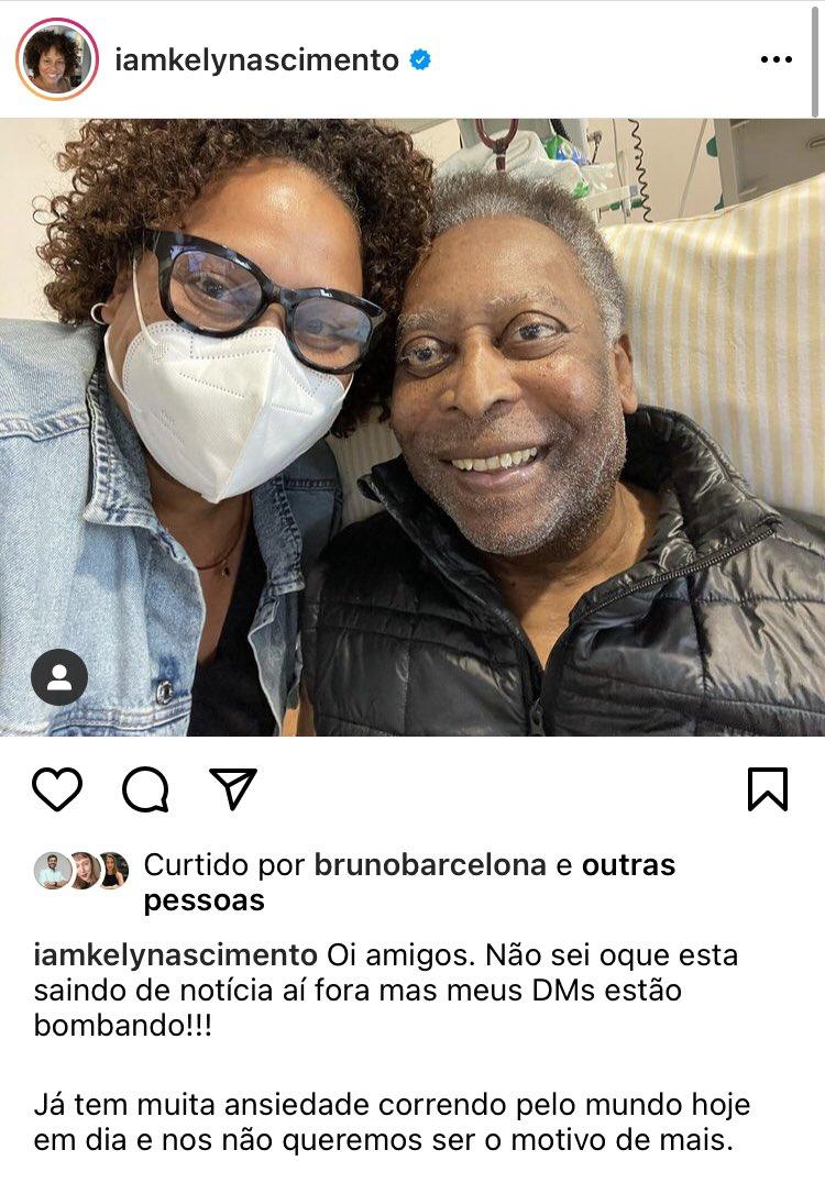 Filha de Pelé amenizou piora no estado de saúde do pai -
