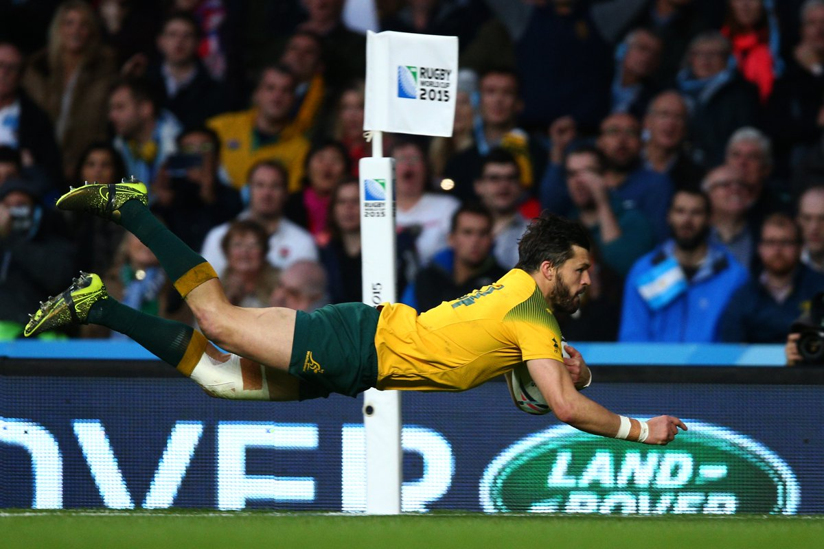 test Twitter Media - The @AdamCoopy swoop 🦅  1⃣2⃣ tries across four RWCs, we got used to seeing that! Congrats on an outstanding career, Adam 👏 https://t.co/6lP2dkfwYL