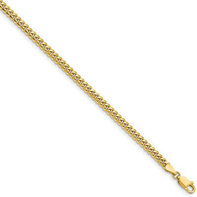 3.5mm 14k Yellow Gold Solid Miami Cuban (Curb) Chain Necklace, 18 Inch ebay.com/itm/3536799838… eBay