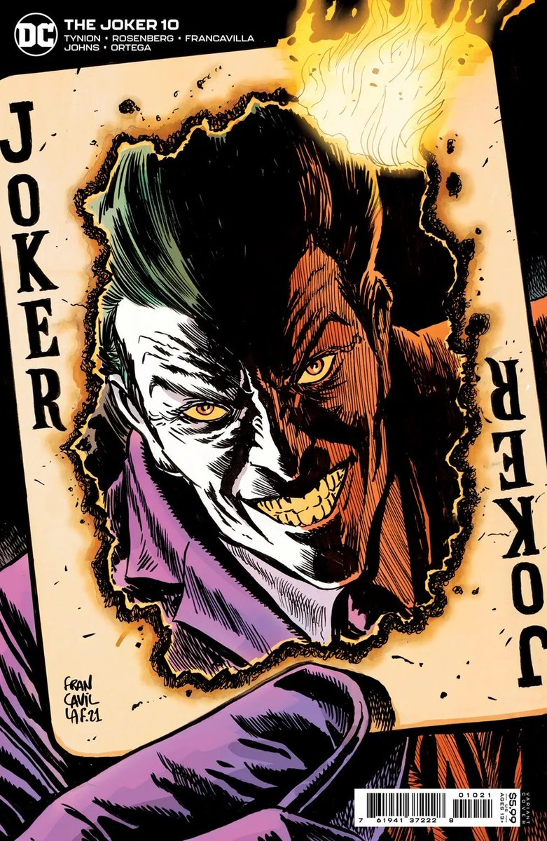 The @DCComics @thedcnation solicits for Dec are out & if you haven't got tired to see me drawing Gordon & CO. after JOKER #5 & JOKER ANNUAL #1 (out in Nov), got great news for you because I'm drawing JOKER #10 too, written by @JamesTheFourth & @AshcanPress. Here's my var cover :)