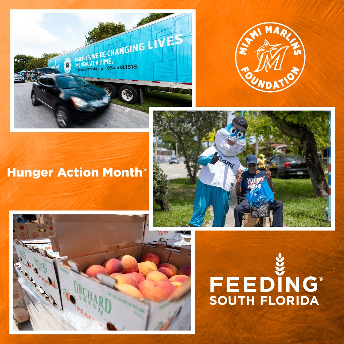 September 17th is #HungerActionDay! This nationwide initiative created by @FeedingAmerica is designed to raise awareness about the issue of hunger in America. The Marlins Foundation is grateful for our partnership with @FeedingSouthFL, who help us feed our local community!