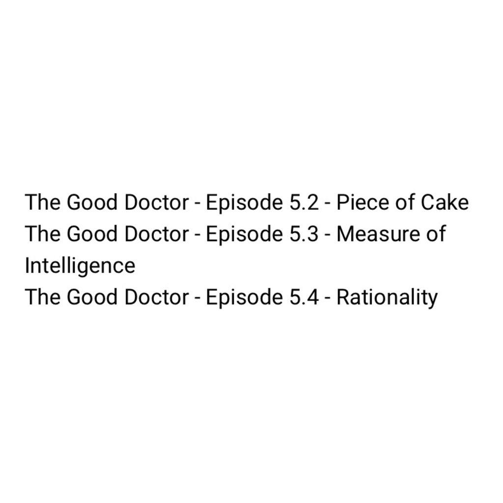 Episodes - Season 5  #TheGoodDoctor #TGDSeason5   @SheaSquad_