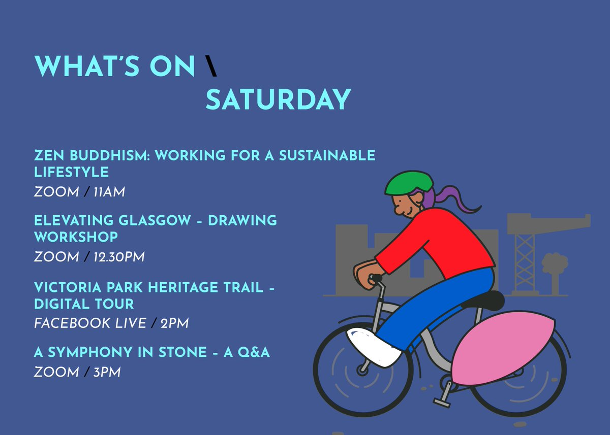 We've made it to the weekend! Who's ready for a packed two days of exploring Glasgow's buildings up close? For those of you who are staying close to home today, we still have some great digital events for you to tune in to. Book tickets 👉 glasgowdoorsopendays.org.uk/digital-events