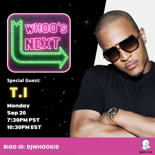 this Monday it's going down!! 1030pm est with @djwhookid on the Whoo's Next show on @bigoliveapp ➡️ link ➡️