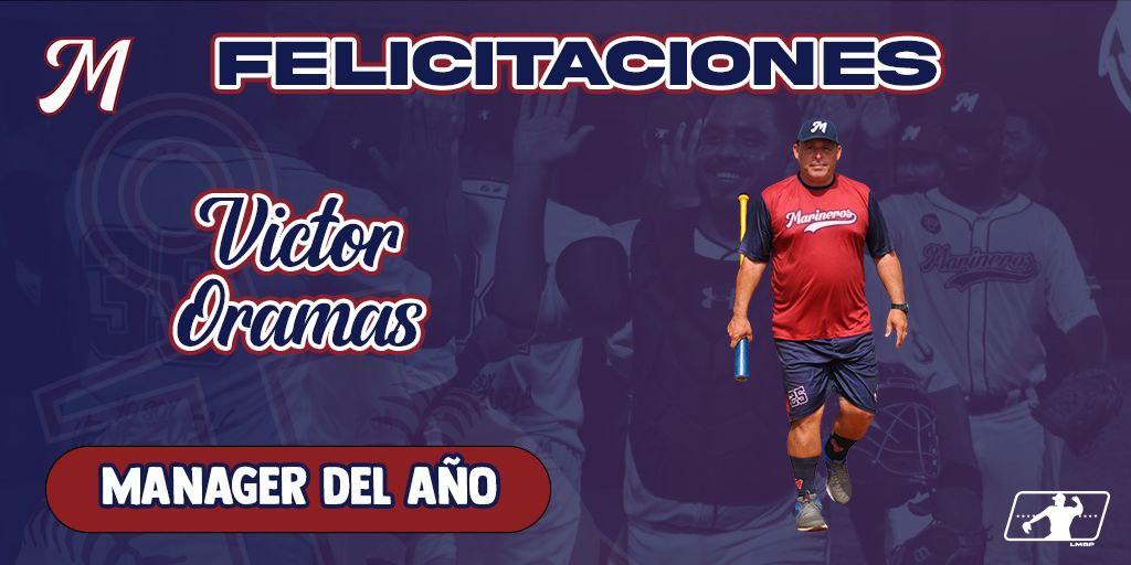 """Marineros de Carabobo on Twitter: """"Nuestro Manager Victor Oramas fue electo  como el MÁNAGER DEL AÑO en la temporada inaugural de la @lmbp_ve 🏆⚾️ Oramas  guió a nuestro equipo para obtener el"""