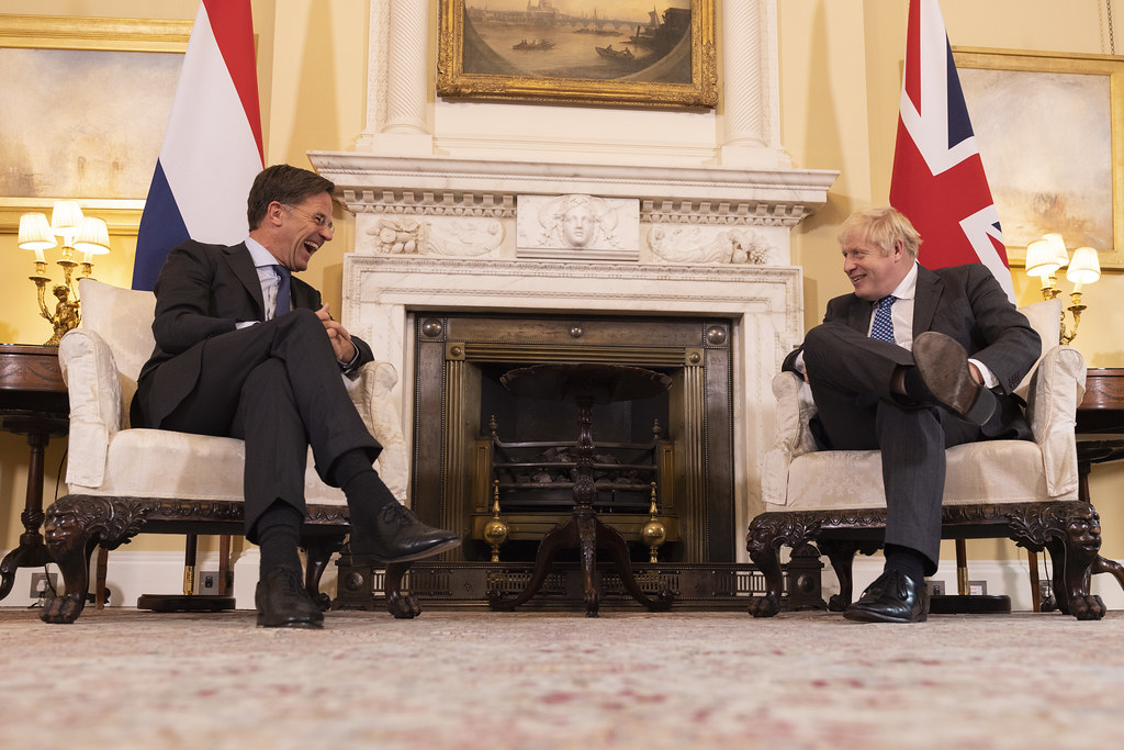 Fantastic to welcome @MinPres Mark Rutte to Downing Street today and reaffirm the longstanding partnership between the UK and the Netherlands as #NorthSeaNeighbours, NATO allies and firm friends. Hartelijk dank voor je bezoek, Mark! 🇬🇧🇳🇱
