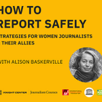 Image for the Tweet beginning: 👩🏽💻 'How to report safely: