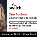 Image for the Tweet beginning: Switch VP of Sustainability and
