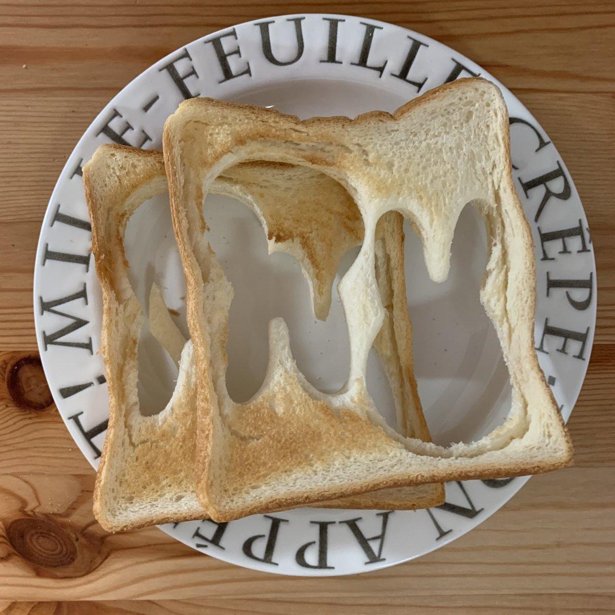 母の愛を感じる。こちらは「息子の朝食」と「母の朝食」です。