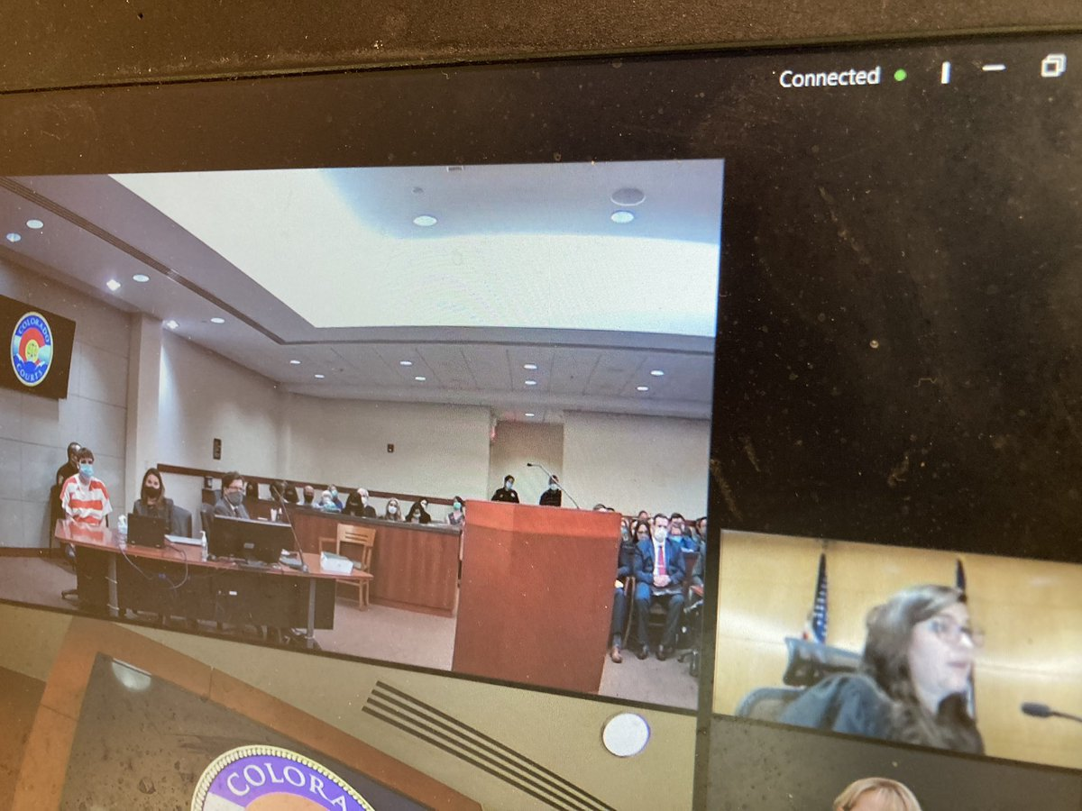 Judge Theresa Slade sentences Devon Erickson to Life in Prison without Parole plus another 1,200 plus years (if math is right) for the shooting at Stem School Highlands Ranch in May 2019 which left 8 people shot and Senior Kendrick Castillo dead. #9News