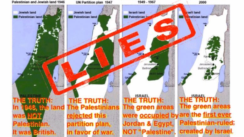 Map of False Palestine. Turn the page..