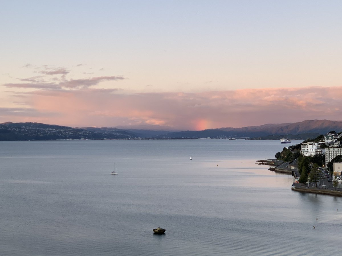 A glimmer of rainbow 🌈 over the Hutt at Sunset…