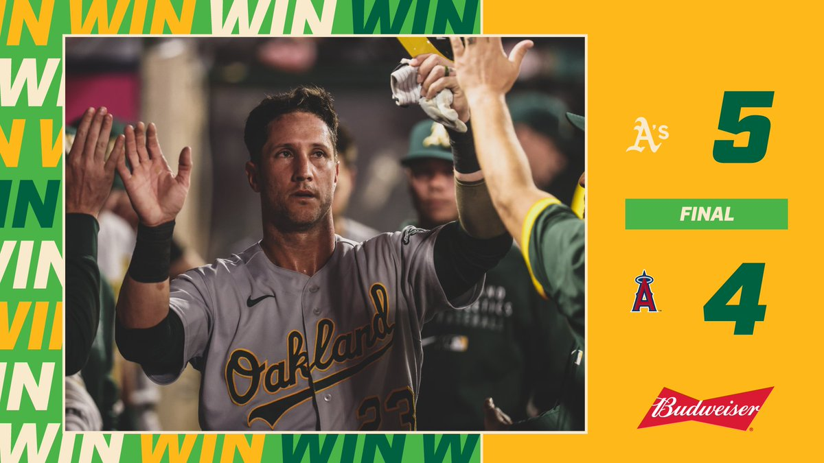 A's win the ball game that was much better then the other game I was also watching.