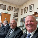 Image for the Tweet beginning: Two Freemasons doing what Freemasons