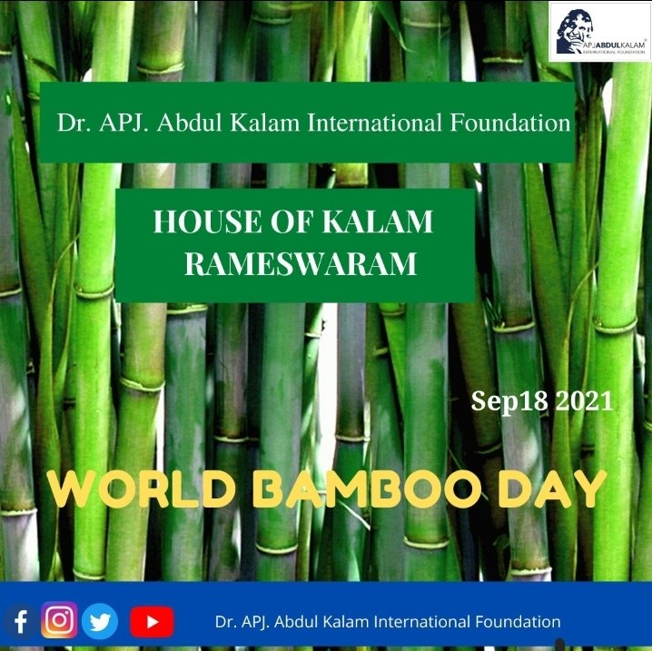 To honour World Bamboo Day, this year, the World Bamboo Organisation is launching a new hashtag: #PlantBamboo. #nature #WorldBambooDay #WorldBambooDay2021 #Houseofkalam #apjabdulkalam https://t.co/g31NTQXVaS