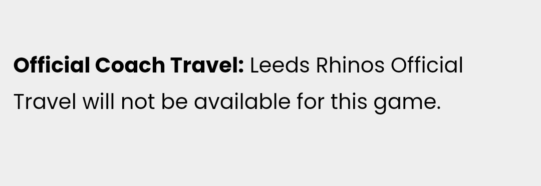 This is so disappointing. Surely if a lot of fans speak up about it they can put them on? @leedsrhinos @Lot_17a @RhinosFaithful