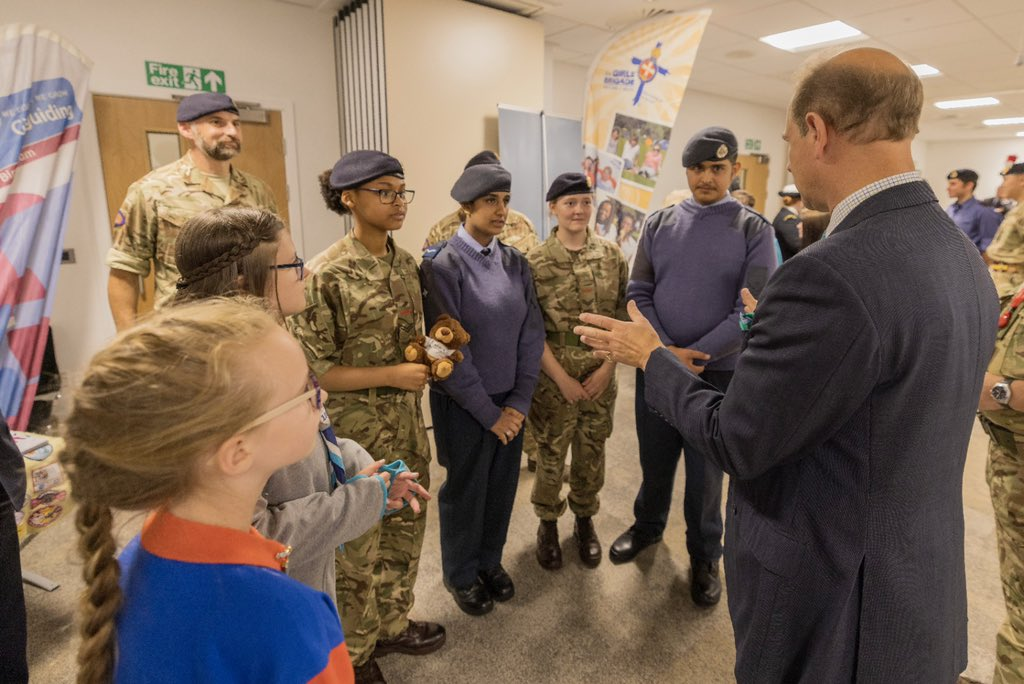 His Royal Highness then met a number of cadets for the launch of Youth Organisations in Uniform Midlands. The Earl spoke to Girl Guides, Sea Cadets, Army Cadets, Girls and Boys Brigades, Scouts, RAF Cadets, Fire Cadets, St John Ambulance and Combined Cadet Force!