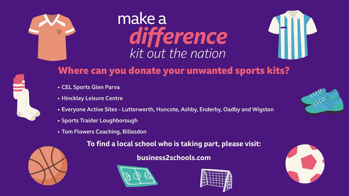We are supporting #KitOutTheNation! You can drop any of your old or unused sports kit & equipment (in good condition) at one of the counties drop off zones. Zones include- @EveryoneActive & @PlacesLeisure sites, @celsports and @Tflowerscricket.  👉https://t.co/WlEGNjKCln