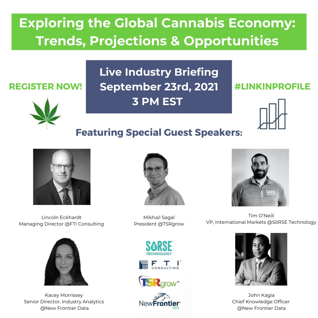 TSRgrow_: You don't want to miss out on these exclusive insights into the future of the #cannabisindustry! Register for the #NewFrontierData webinar now using the link below 👇