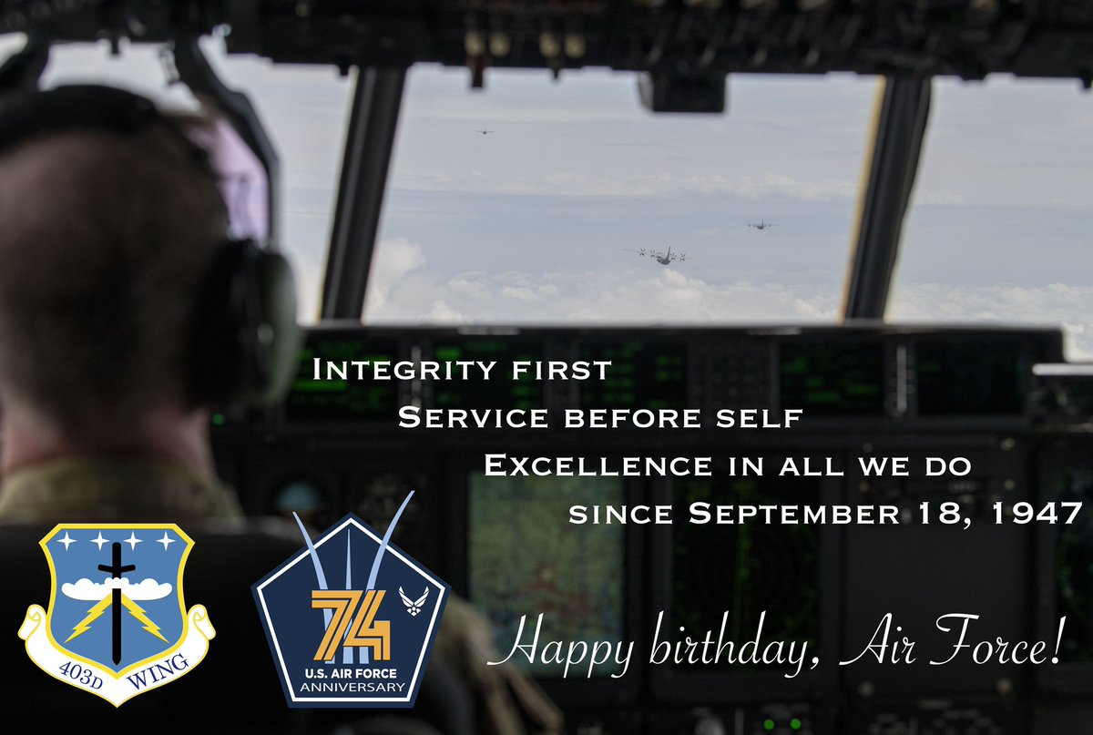 Happy birthday @usairforce!  Thank you to all Airmen, past and present for 74 years of excellence in all we do.  #ReserveReady