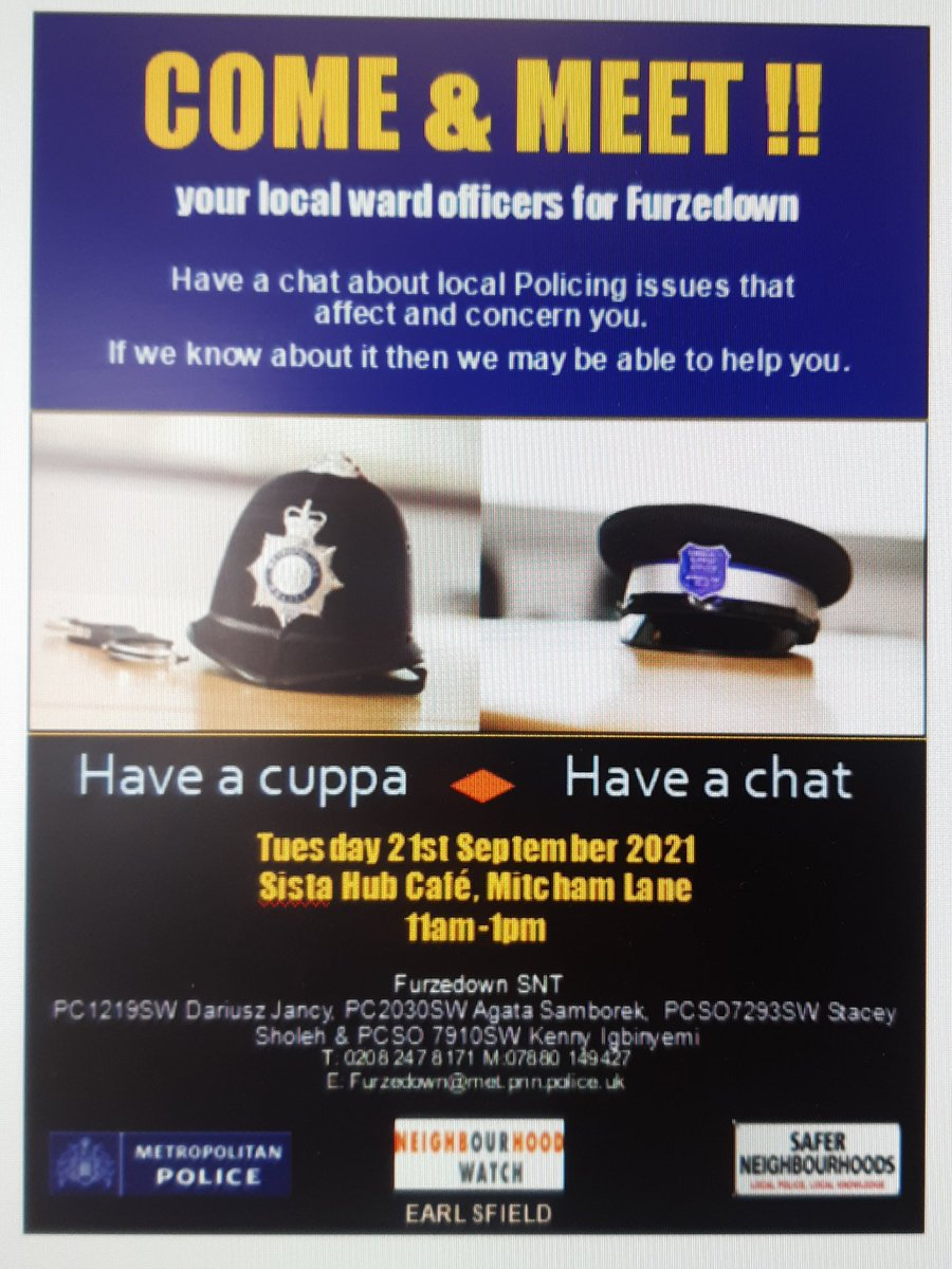 Don't be shy come and say Hi #meetyourteam #coffee #tea #chat #report #concerns