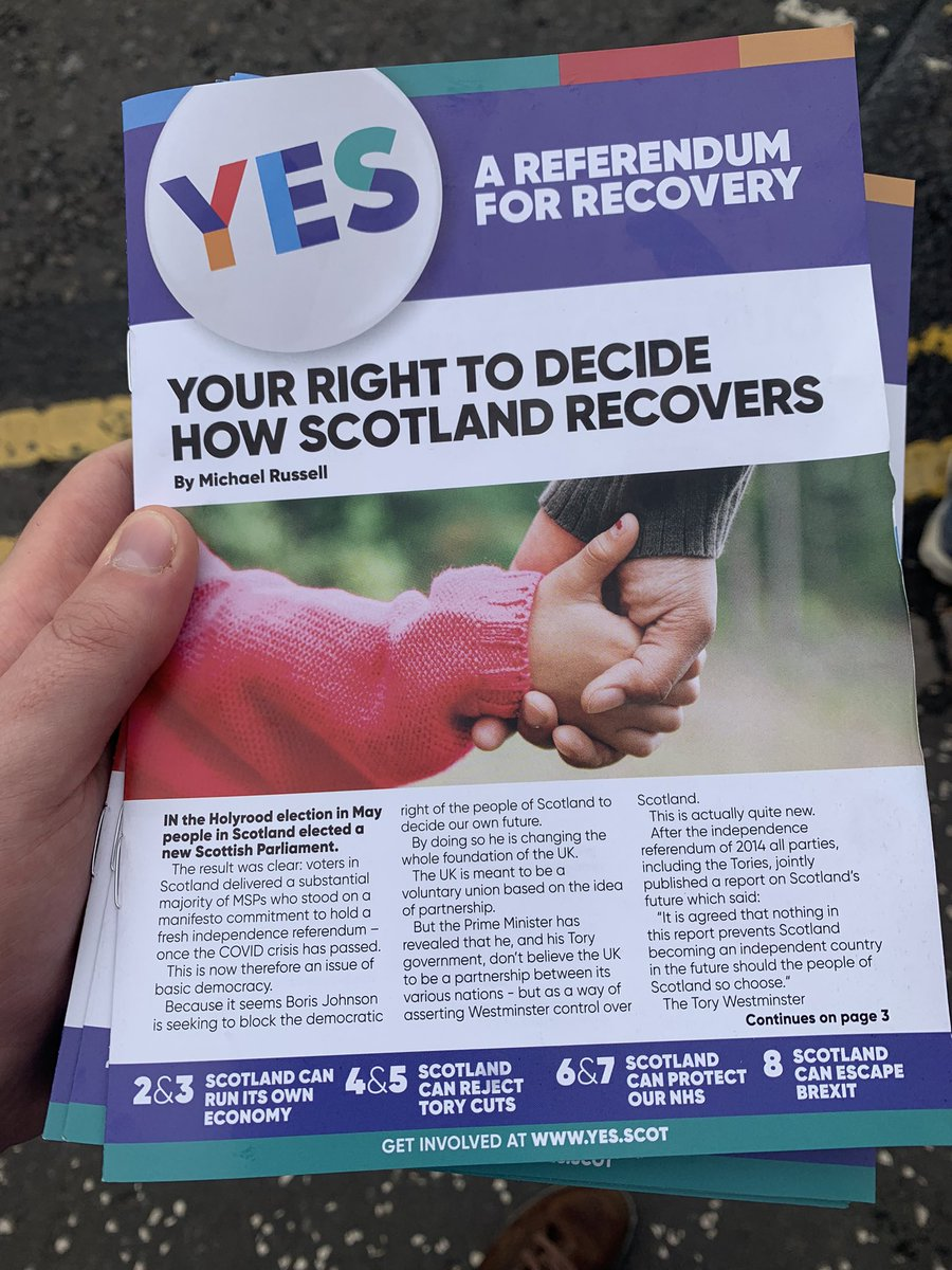 Out in Partick this morning delivering these! #activeSNP