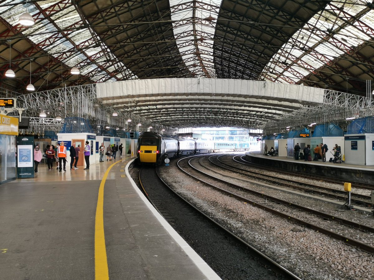 Bristol Temple Meads, with its roof restoration started. Looking forward to seeing it all done in a few years.