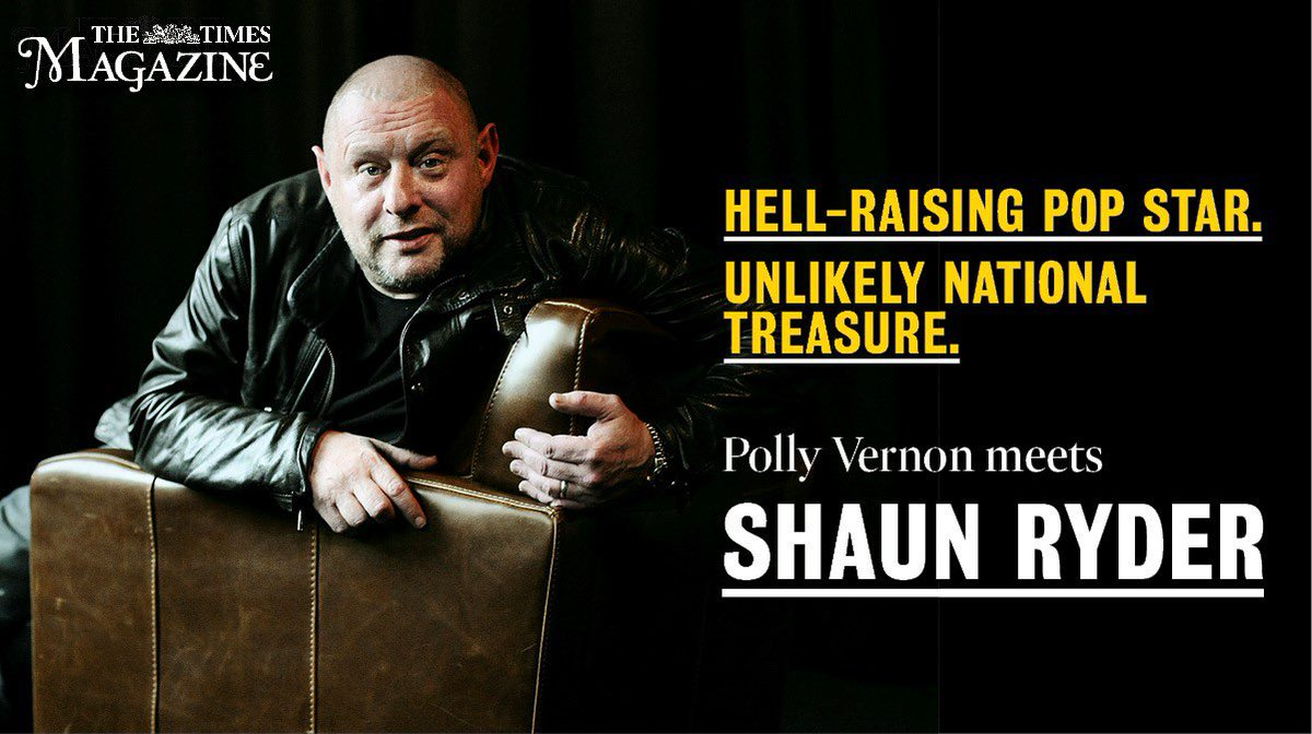 In today's Saturday Times Magazine Shaun chats about his new solo album 'Visits From Future Technology' also 'Feel the Noise: the Music that Shaped Britain' - the new documentary on @BritBox_UK … and much more!! 🤓 📰 🗞 #ShaunRyder #Newalbum #BritboxTV @thetimes