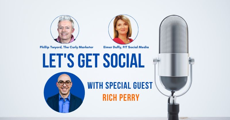 Thank you @CoachRichPerry we loved having you on the show! When are you coming back? 🤗 #letsgetsocialshow #socialmediatips