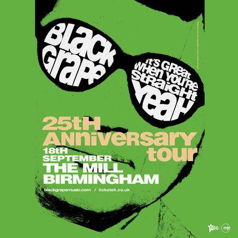 TONIGHT… Black Grape play @TheMillDigbeth in Birmingham with guests @the_pagans!! 😎 Tickets: themilldigbeth.com/event/black-gr… #BlackGrape #ShaunRyder #KermitLeveridge #ThePagansSOH #TheMill #Birmingham #Gigs #Tour #Livemusic