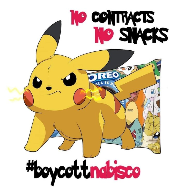 Please remember to continue to #BoycottNabisco while you're @ the store today.  Workers across the country are still striking for better working conditions.  #NabiscoStrike #NoContractsNoSnacks