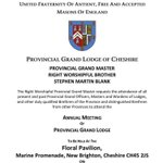 Image for the Tweet beginning: #cheshirefreemasons have you booked in