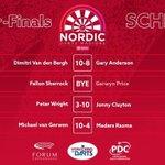 Image for the Tweet beginning: Итоги четвертьфинала Nordic Darts Masters