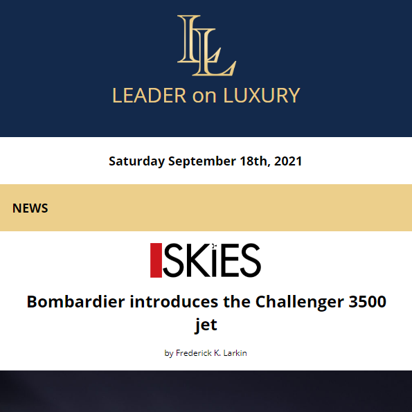 The latest from your Leader on Luxury is now available. Full newsletter at https://t.co/s9GOTKnQNa    Read the latest news, learn about upcoming events and our featured #aircraftforsale #yachtforsale listings! #bizav #leaderluxury #luxurytravel #luxurylifestyle #privatejet