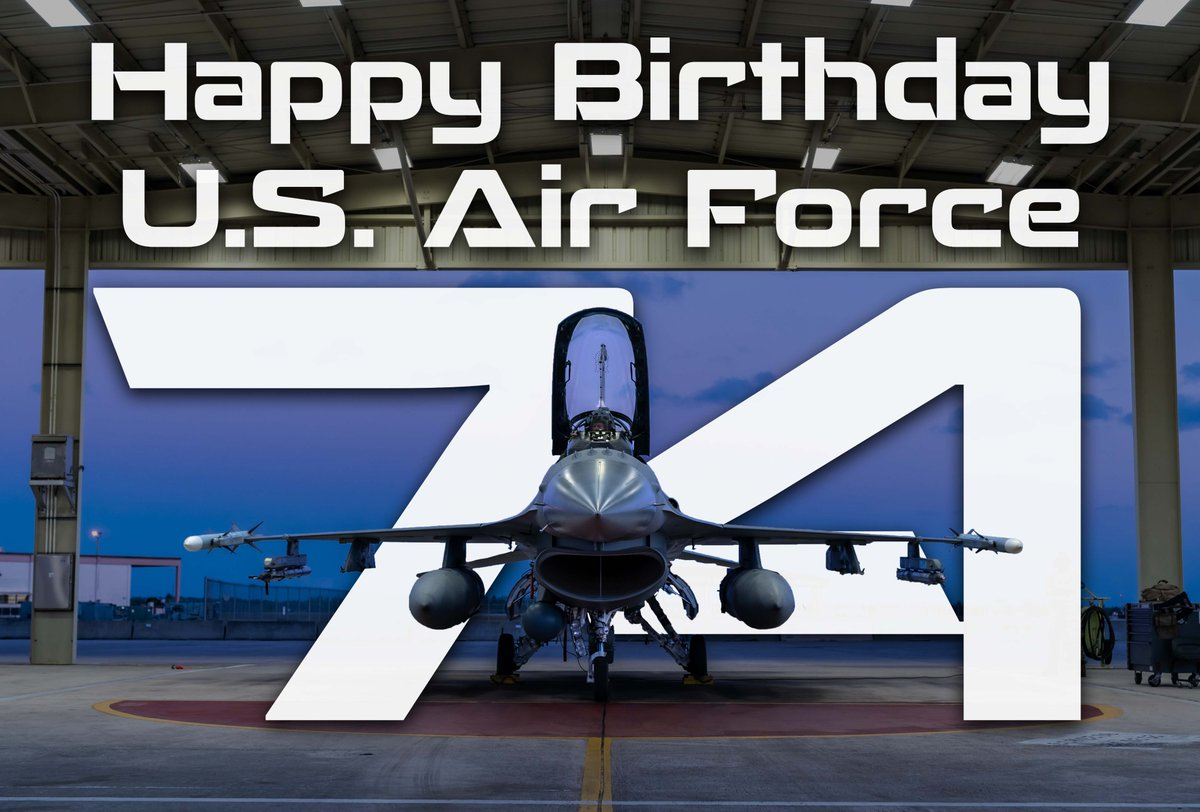 Happy 74th Birthday U.S. Air Force. ✈️ 🇺🇸 ✈️ 🎂 Another year older but still looking good.  #HARB #HARBReady #ReserveReady