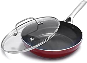 Red Volcano Textured Ceramic Nonstick 12-in-1 All Purpose Pan $18.99  at