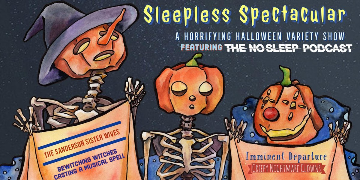 #BreakingNews  Come join the NoSleep Podcast at the @BellHouseNY in Brooklyn for a one night only Live Halloween Sleepless Spectacular! See the link below for event information!   https://t.co/8tKpE7uFSb  Can't wait to scare you all there. Stay sleepless!   #liveshow #horror