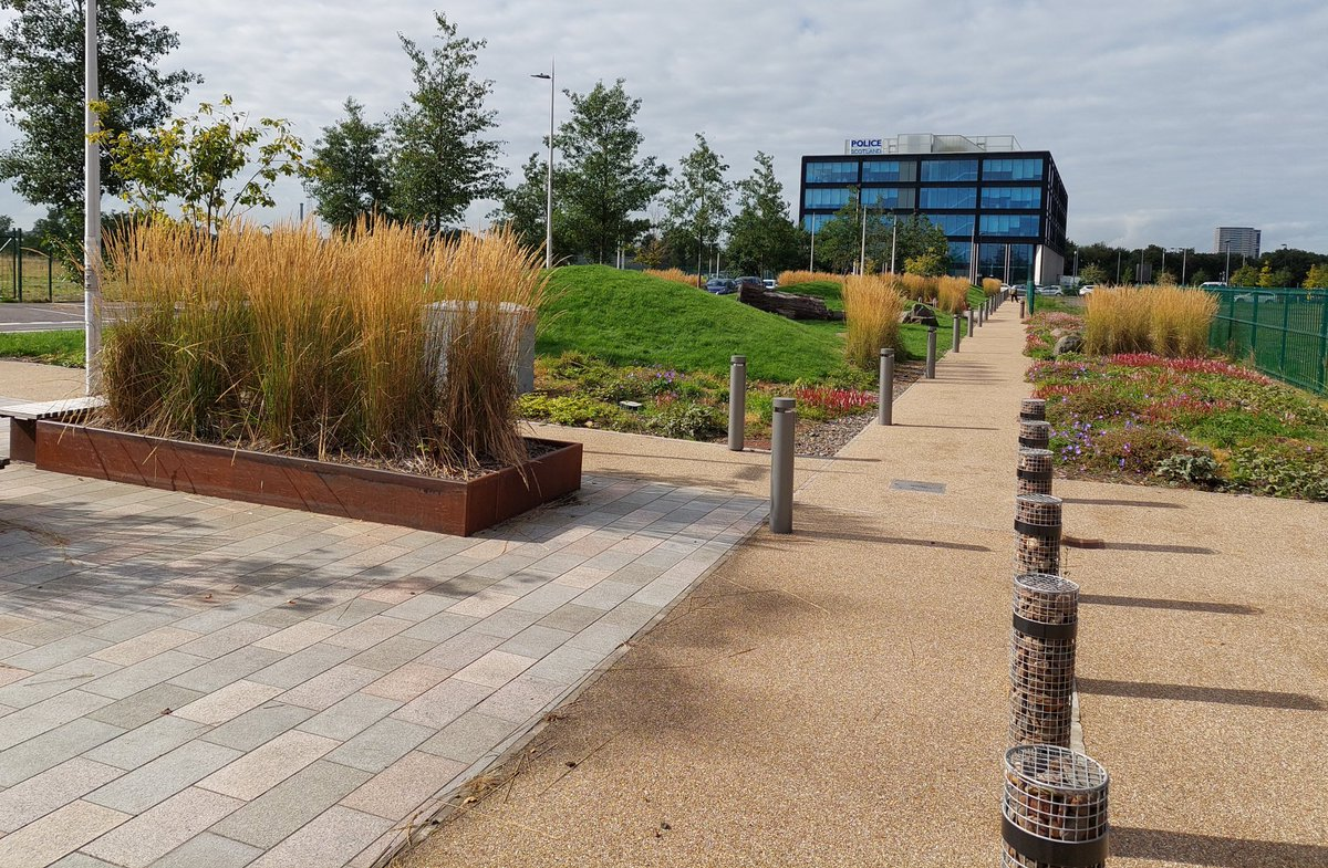 I took a slightly different route through Dalmarnock and was pleasantly surprised by all this landscaping.