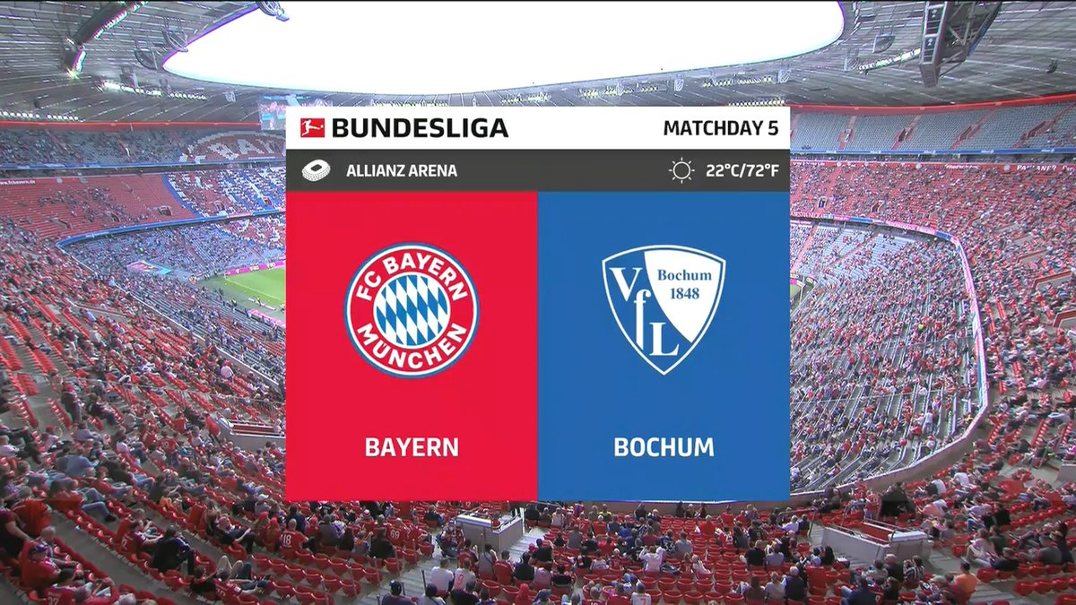 Full match: Bayern Munich vs Bochum