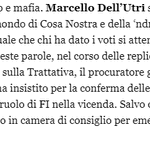 Image for the Tweet beginning: #TrattativaStatoMafia. #DellUtri era lo sponsor di